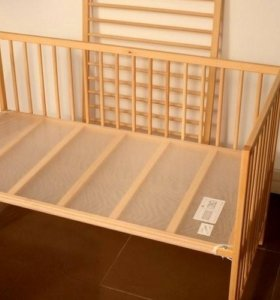 Кроватка детская с двумя ортопедическими матрасами