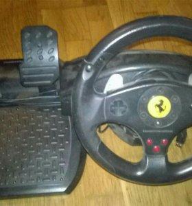 Руль и педали для pc также совместимы playstation