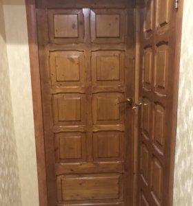 Двери межкомнатные (натуральное дерево) 4 шт