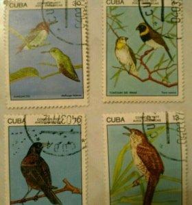 """Марки """"птицы"""" Куба"""