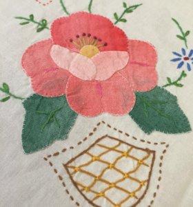 Скатерть чайная с ручной вышивкой