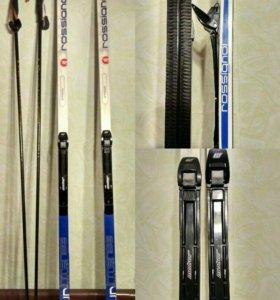 Лыжи Rossignol + крепления + палки