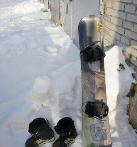 Сноуборд, ботинки