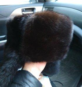 Норковая шапка -ушанка