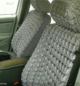 Вязанные чехлы на авто