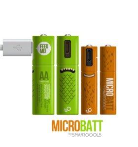 Micro-usb батарейка MicroBatt от Smartoools / 2 шт