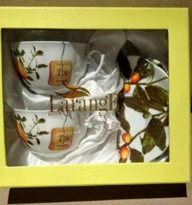 Новый чайный сервиз Lafarge на двоих в коробке