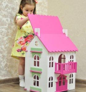 Кукольный деревянный домик 🏠