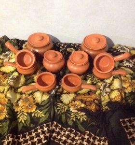 Глиняные горшки для запекания