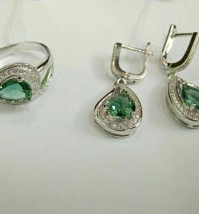 Серьги кольцо