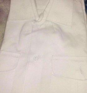 Рубашка белая военная