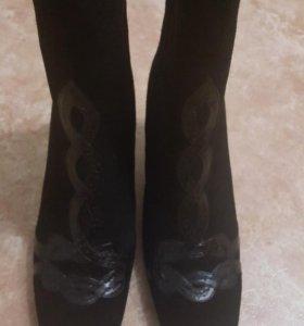 Ботинки зимние (замша )