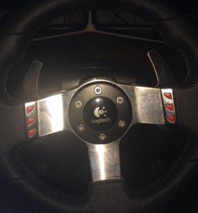 Игровой руль (Logitech g27 racing wheel).