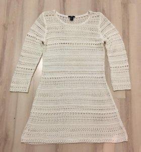 Женский свитер белый, платье, туника 46-48-50