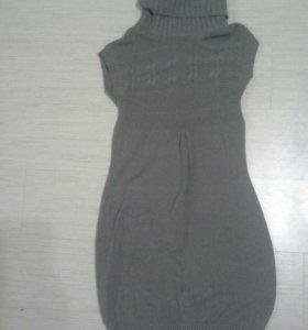Платье шерстяное 46