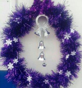 Новогоднее украшение на дверь или стену