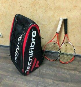 Теннисные ракетки по шт и сумка