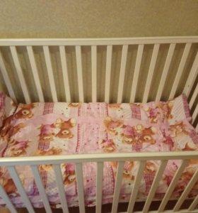 Кроватка детская +матрасик