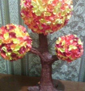 Самодельное осеннее дерево