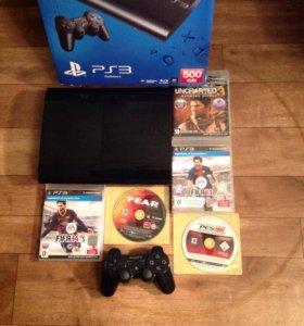 Playstation 3 super slim 500gb ps3 5игрдоставка