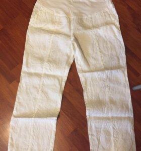 Летние льняные брюки для будущих мам