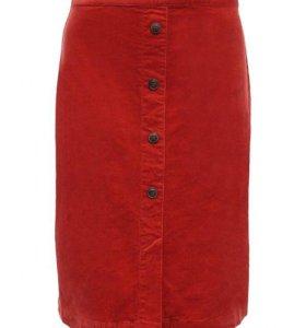 Новая стильная микровельветовая юбка раз44,46,48