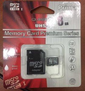 Карты памяти 8 Гбайт
