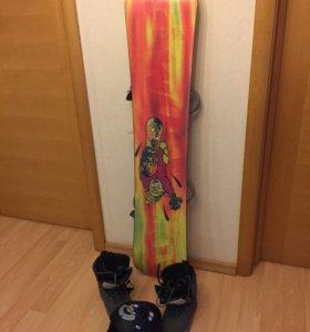 Сноуборд+ботинки+шлем
