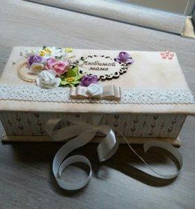 Коробочка ручной работы подарок маме