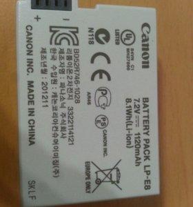 Аккумулятор для Canon 550D, 600D, 650D Оригинал