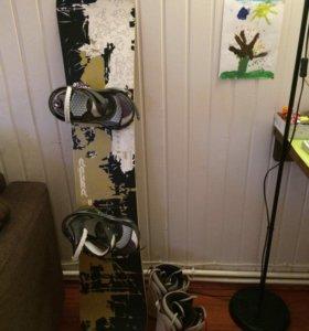 сноуборд FANATIC + крепление BURTON +ботинки VANS.