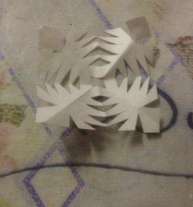 Мини снежинки набор из пяти снежинок