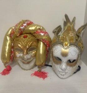 Новогодние маскарадные маски
