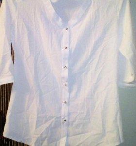 Блузка белая (новая), размер 44