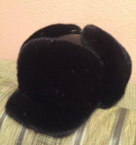 Продам норковую шапку-кепку