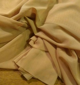 Ткань. Сетка-стрейч. Телесного цвета.