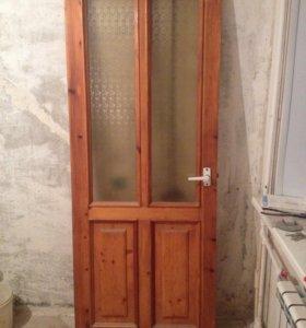Деревянная дверь б/у