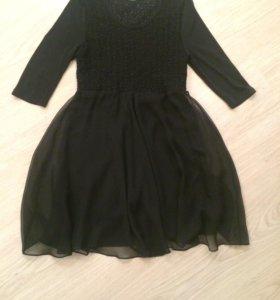 Платье чёрное 46р.