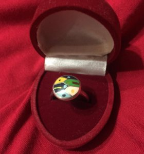 Кольцо Sunlight серебро с эмалью