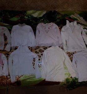 Белые водолазки для девочки.