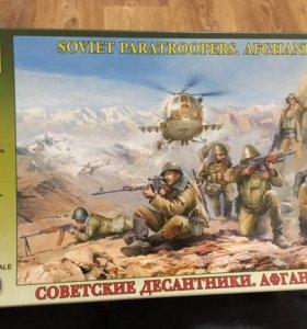 Сборная модель десантники Афганистан
