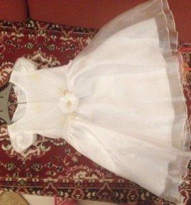 Новое платье-снежинка, 1,5-2 года, 92 р.