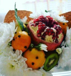 Креативные букеты из овощей и фруктов. 💐