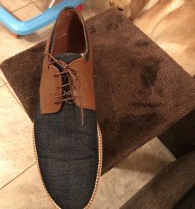Туфли мужские оригинал 45 размер, 31 см по стельк