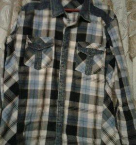 Рубашка на подростка.100% хлопок,приталенная.
