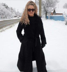 Пальто дублёное супер модненько с Ламой натурал