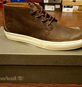 Ботинки кеды timberland кожанные