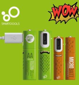 Micro USB аккумулятор (4шт) MicroBatt Smartoools