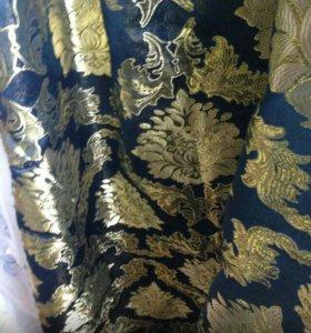 Набор шторы новые с ламбрекеном 4м и тюль