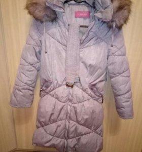 пальто зима на7-8 лет